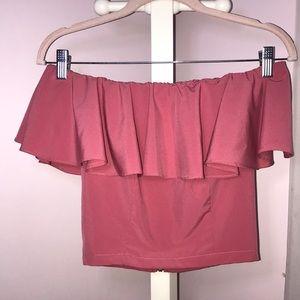 Pink Off the Shoulder Top!